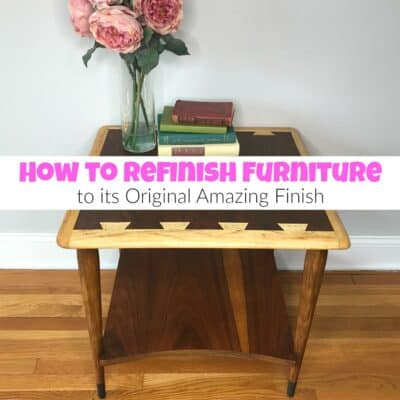 How to Refinish Furniture to its Original Amazing Finish