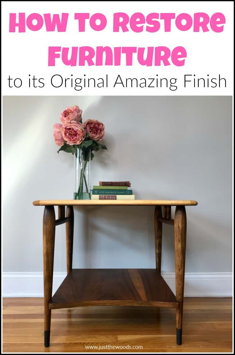 how to restore table top finish