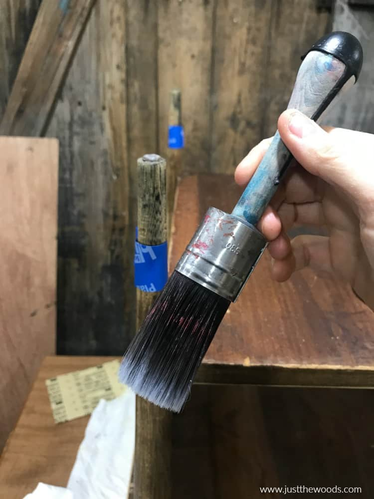 small cling on paint brush