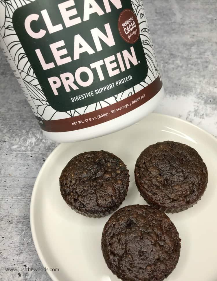 clean lean protein powder, vegan protein powder muffins