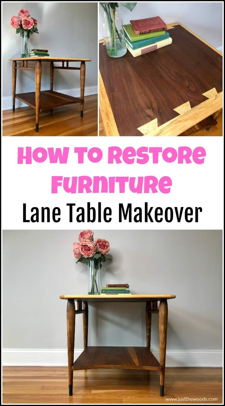 lane acclaim table restoration, how to restore wood furniture