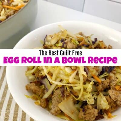 The Best Guilt Free Egg Roll in a Bowl Recipe