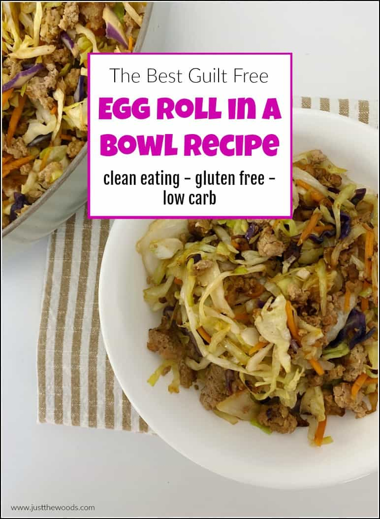 egg roll in a bowl without pork
