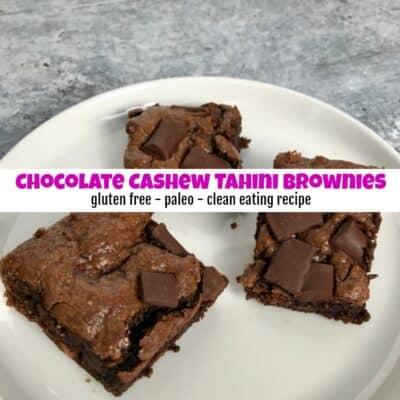 How to Make Amazing Gooey Chocolate Cashew Tahini Brownies