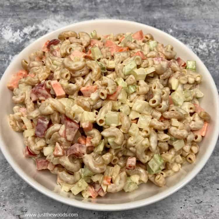 gluten free healthy macaroni salad with mayo