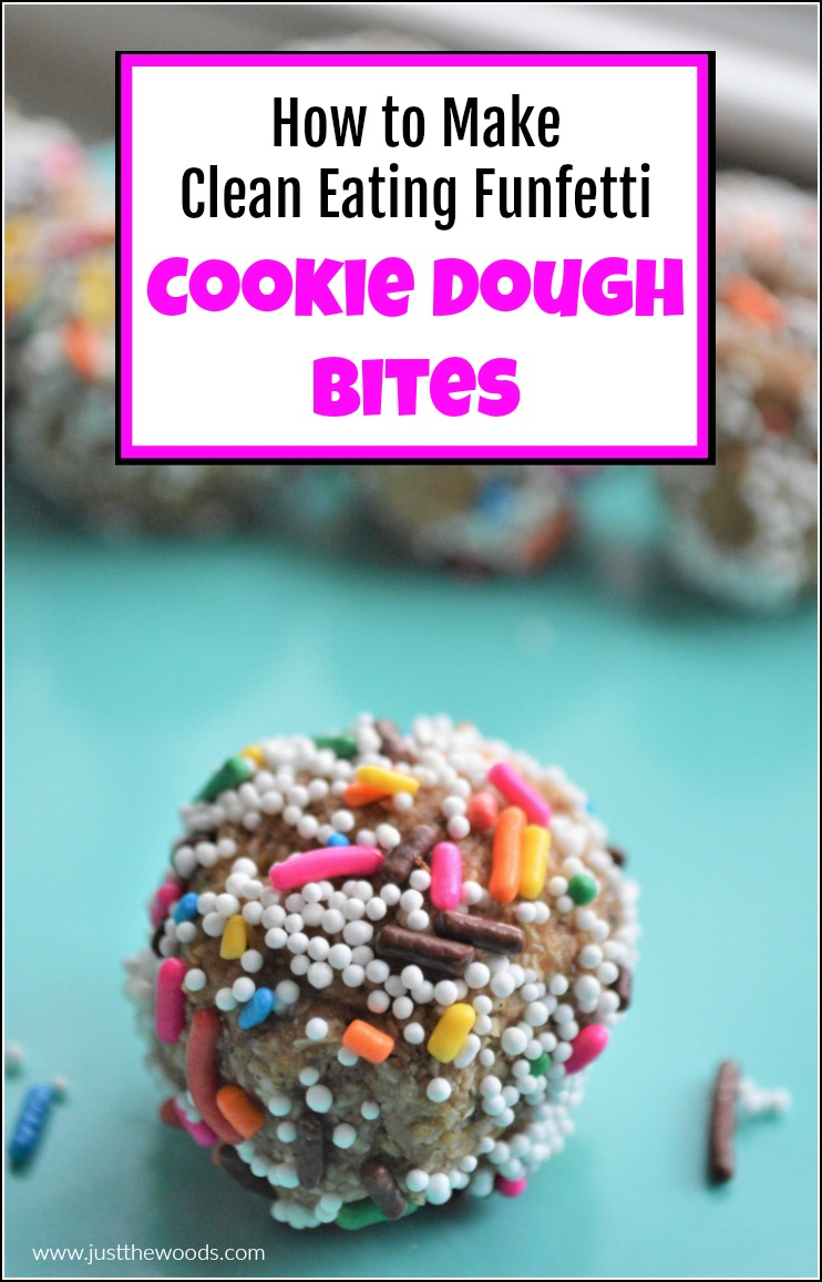 pin image for healthy cookie dough bites
