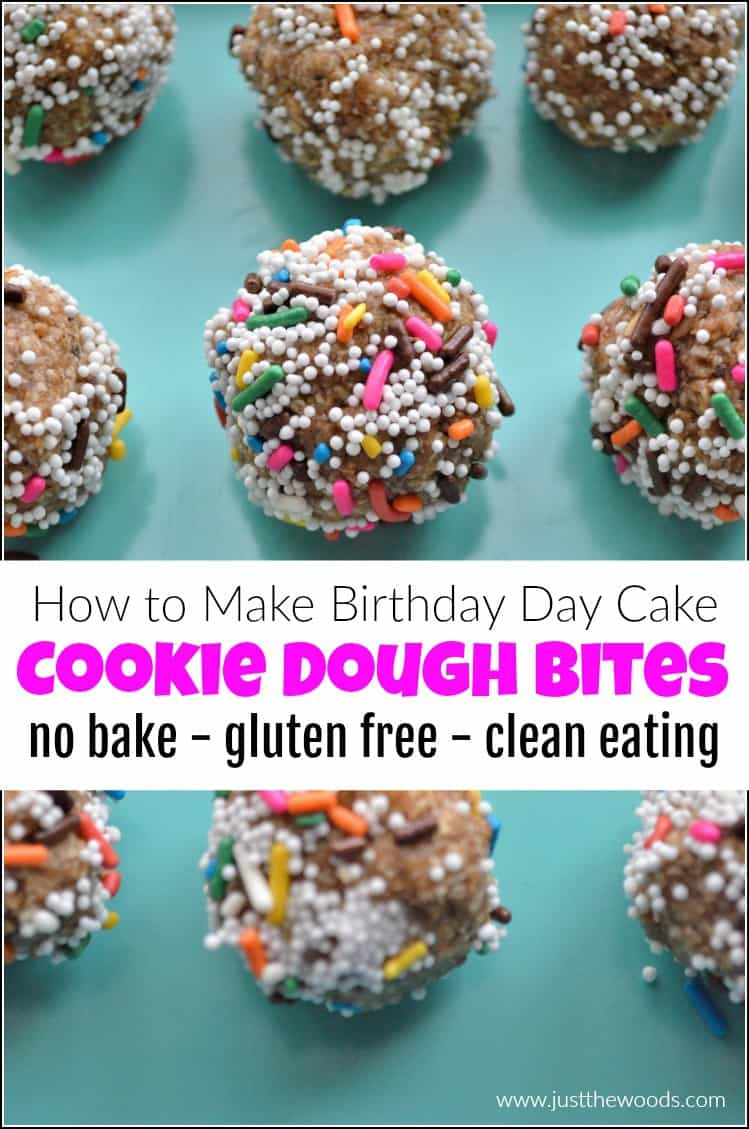 pin image for cookie dough bites, healthy cookie dough bites