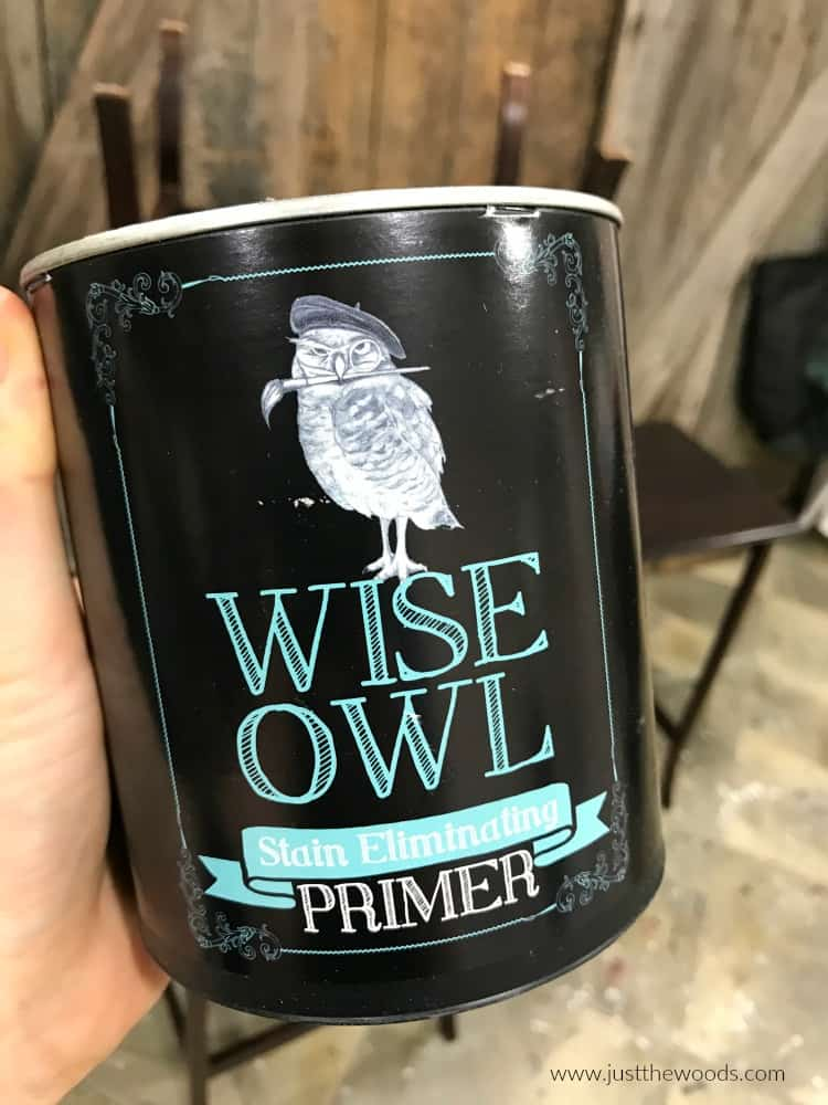 can of wise owl stain eliminating primer, gray primer