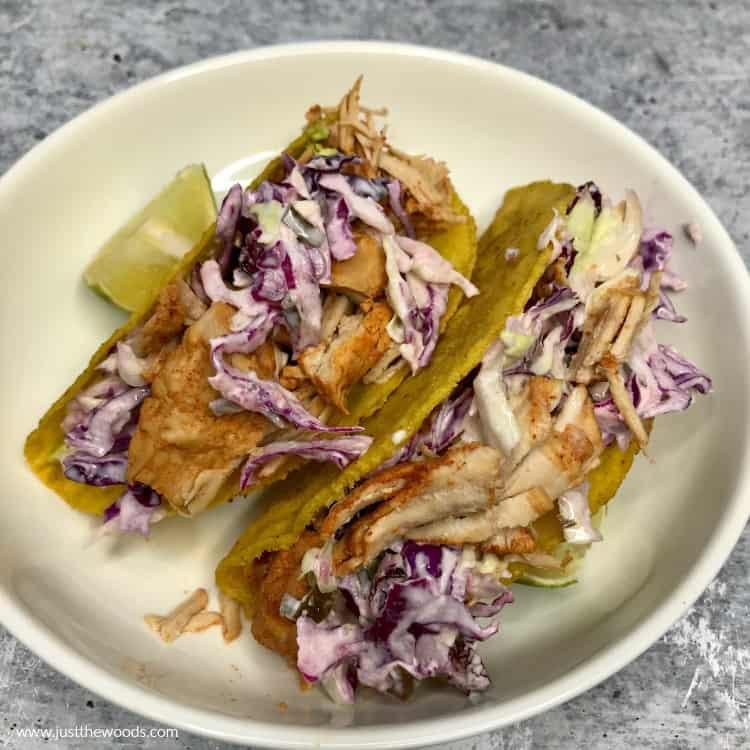 coleslaw on pulled pork tacos