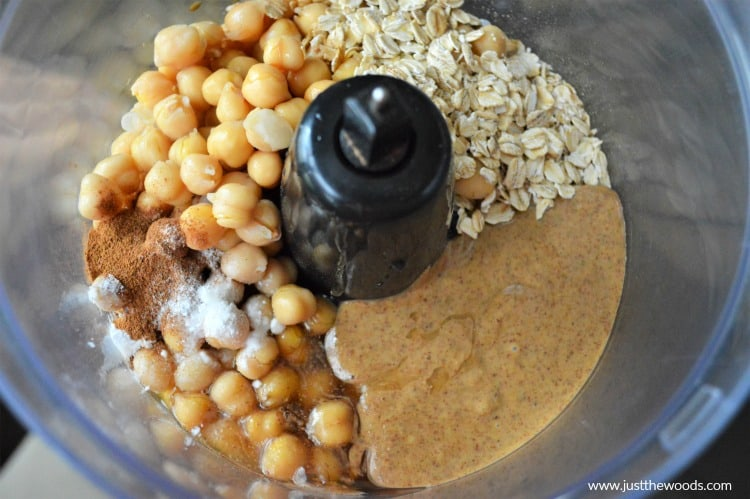 how to make chickpea muffins, chickpea muffins in food processor