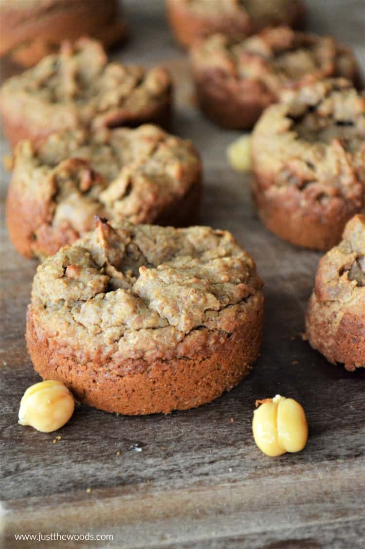 close up chickpea muffins