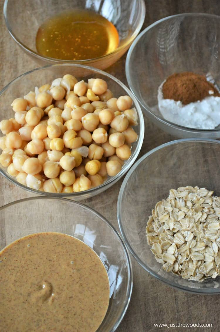 clean eating snacks, chickpea muffins ingredients