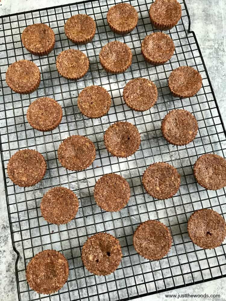 paleo gluten free zucchini muffins on cooling rack