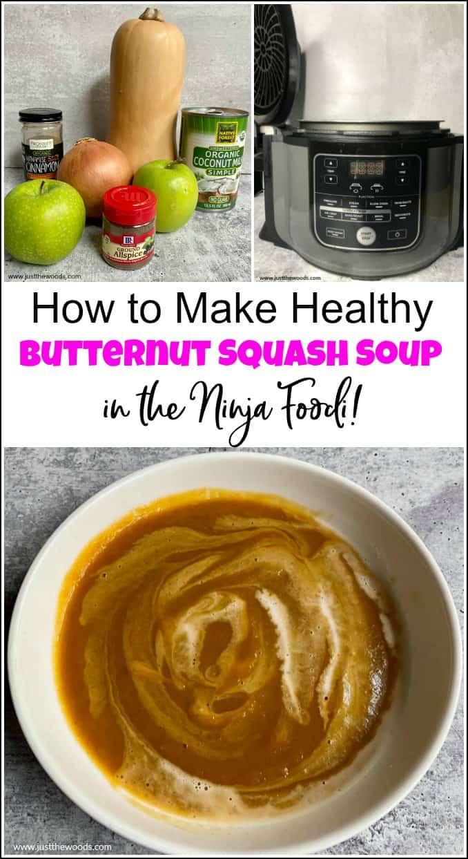 easy butternut squash soup recipe, healthy butternut squash soup, Ninja Foodi