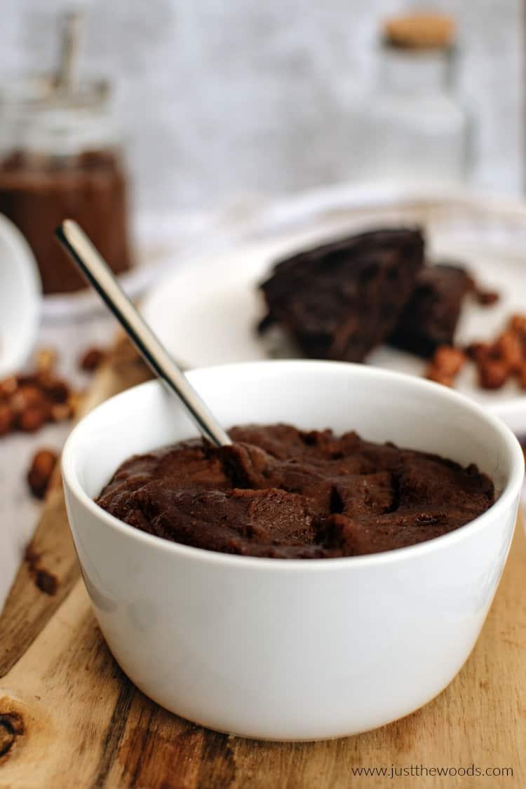 homemade nutella cacao spread