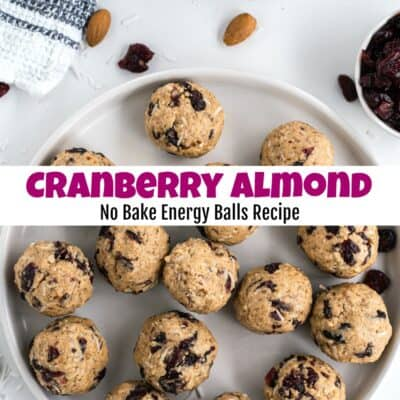How to Make Cranberry Almond No Bake Energy Balls