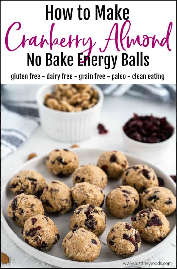 cranberry almond coconut energy balls