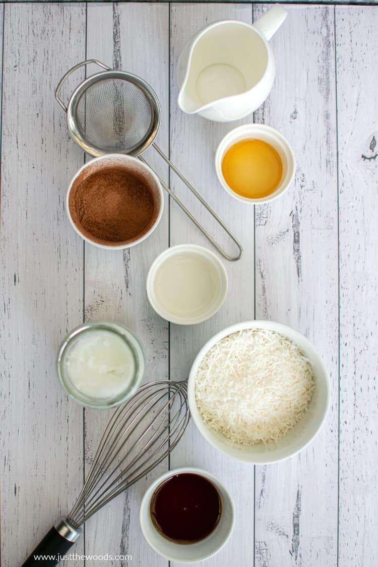 ingredients to make homemade macaroons
