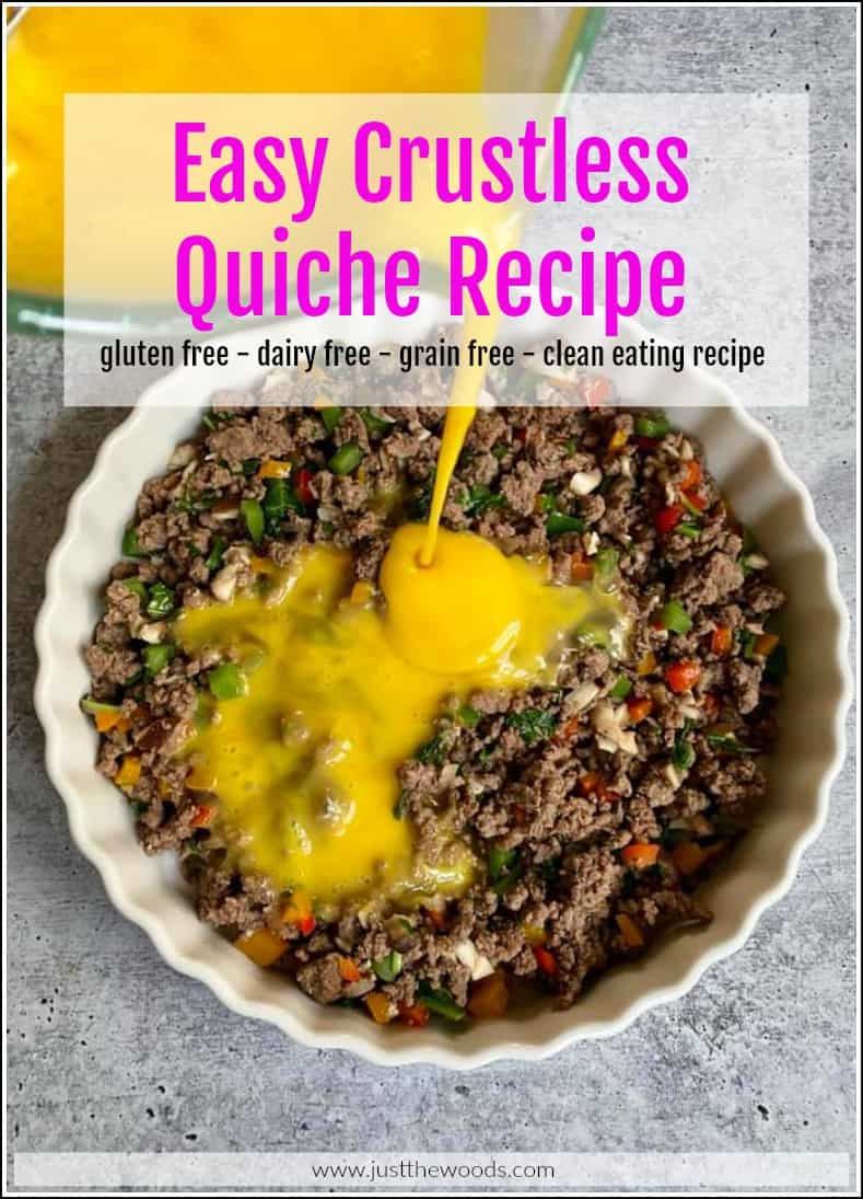 how to make a crustless quiche
