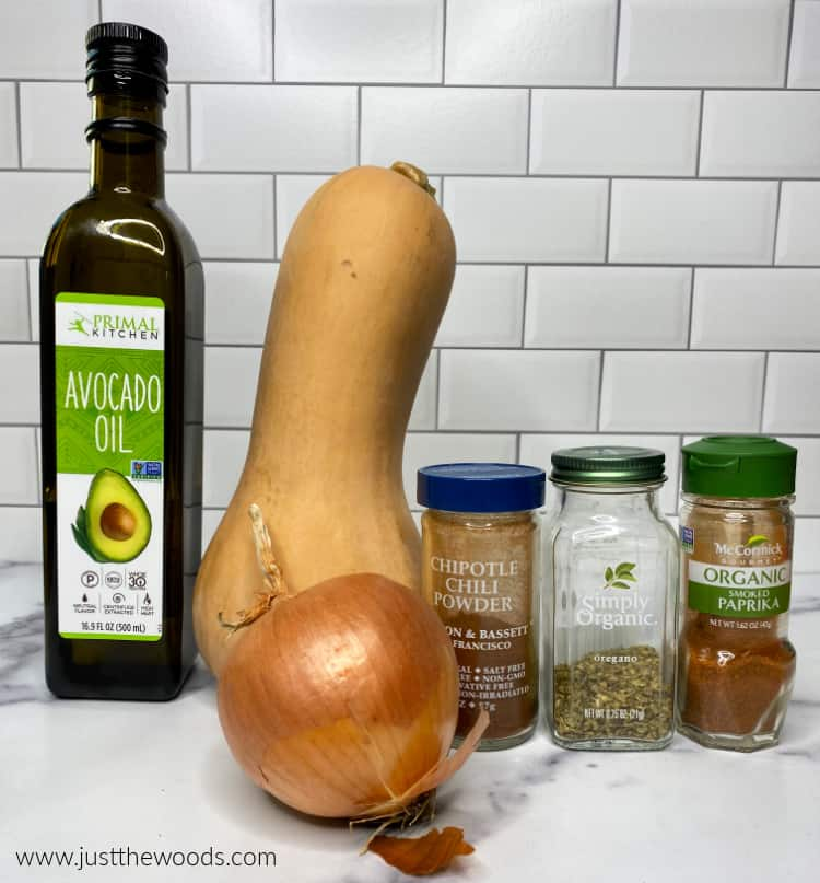 ingredients for savory squash recipe, what to do with butternut squash