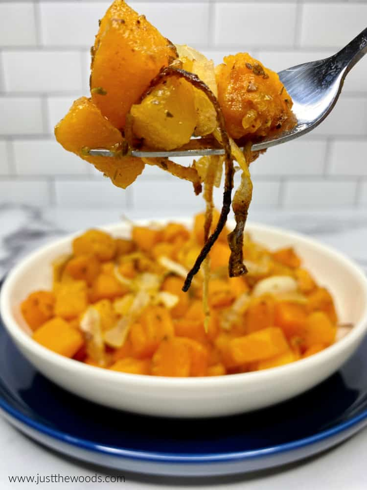 oven roasted butternut squash with savory seasoning