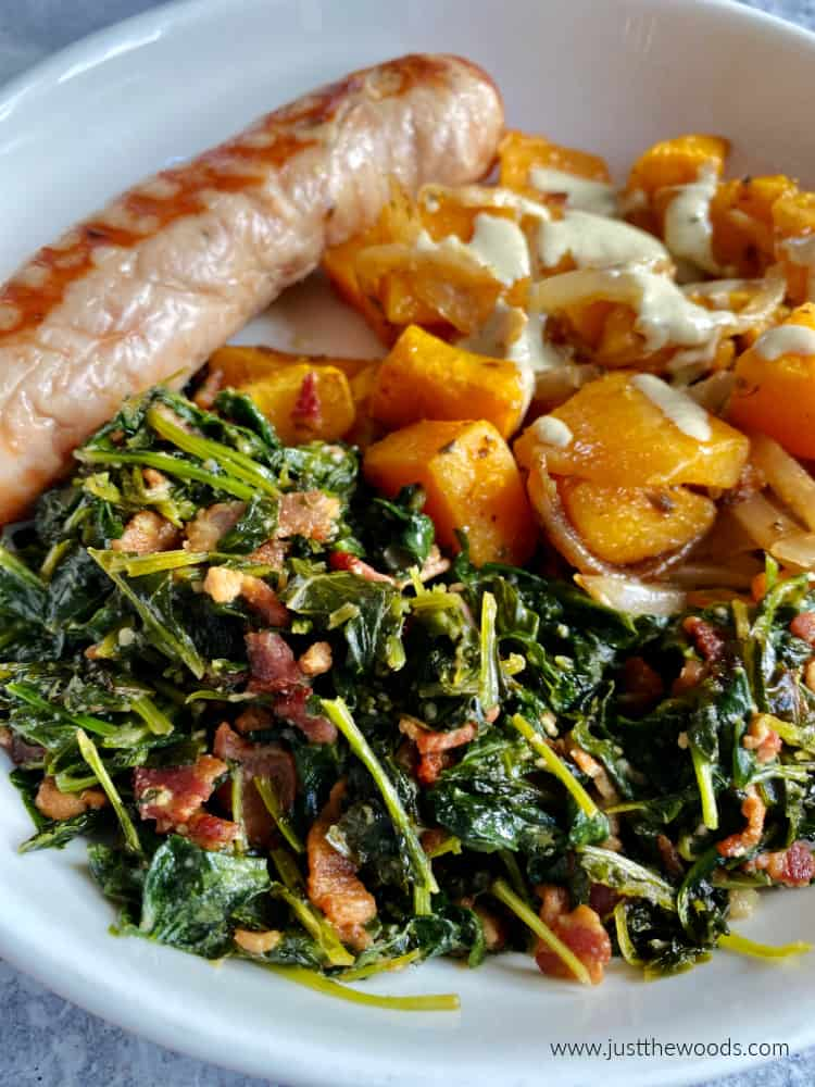 how to make kale taste good, easy kale side dish with bacon
